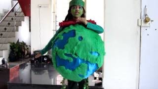 Naomi as Earth for SJC Bhopal Fancy Dress Competition