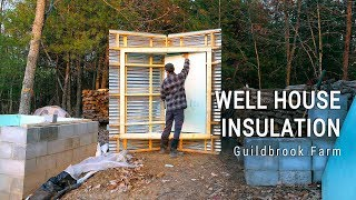 Insulating the Well House & Preparing ICF Basement for Waterproofing