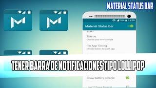 Tener Barra De Notificaciones Tipo Lollipop | Material Status Bar | 2015-2016