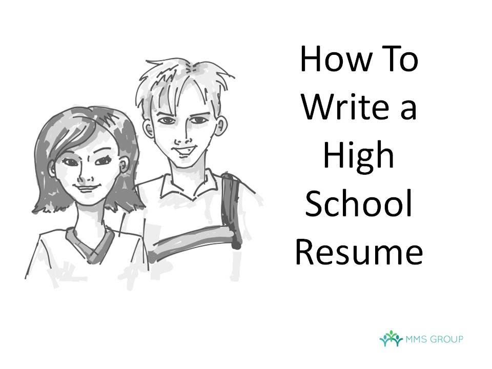 how to do a high school resume