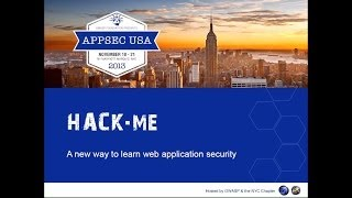 Hack.me: a new way to learn web application security - Armando Romeo