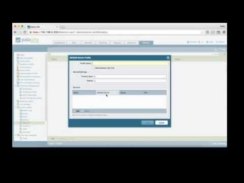 12. Palo Alto Firewall with RADIUS Authentication for Admins