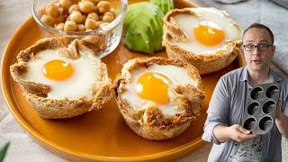 Zajtrk toast skodelice [HITRO IN PREPROSTO]