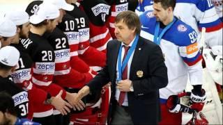 Тренер Олег Знарок разносит хоккеистов сборной России после проигрыша канадцам