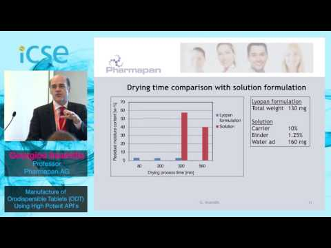 Georgios Imanidis - Pharmapan AG - Manufacture of Orodispersible Tablets using the Lyopan technology