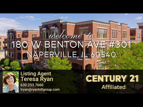 RENTED!  Off Market Downtown Naperville Luxury Condo: 180 W Benton Ave #301 Naperville IL 60540