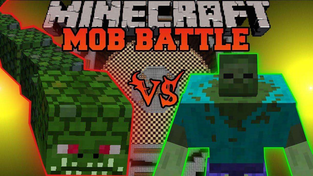 Mutant Zombie Vs Naga Minecraft Mob Battles Mutant