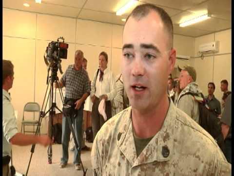 Defense Secretary visits Camp Dwyer, Afghanistan