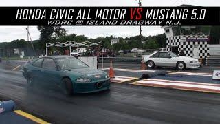 Honda Civic All Motor vs Mustang 5 0