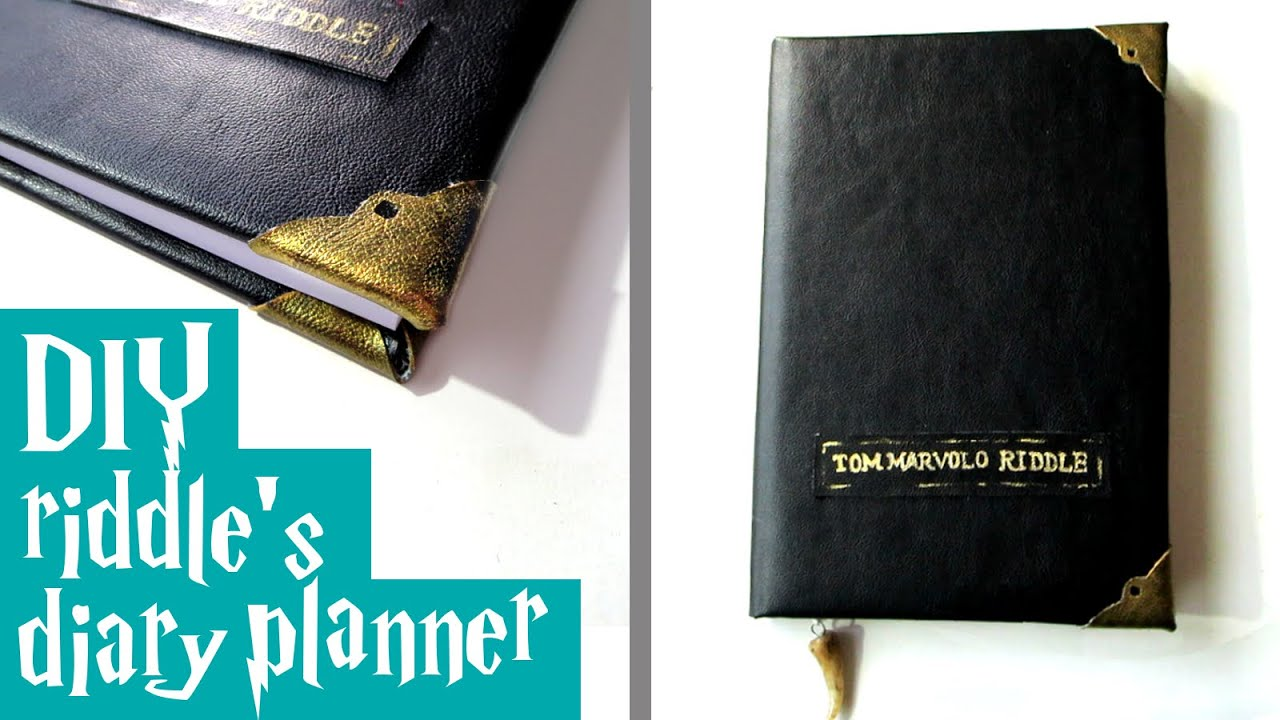 DIY riddle39s diary planner Harry Potter tutorial YouTube