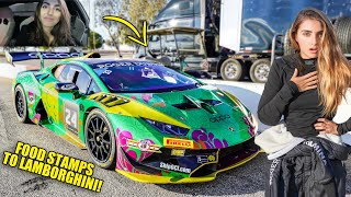GOING FROM FOOD STAMPS TO A $1,000,000 LAMBORGHINI RACE CAR