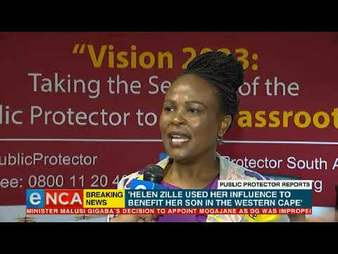 Public Protector releases reports into Zille, Mbalula, Treasury DG