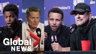 NBA Finals: Raptors vs. Warriors presser ahead of Game 5
