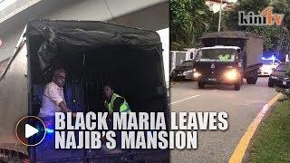 LATEST: Black Maria leaves Najib's mansion
