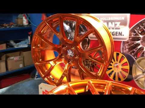 TeamAPT Candy Pulverbeschichten orange kupfer lasur Felgeninstandsetzung