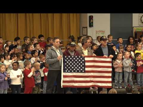 Children Sing Honoring United States Military