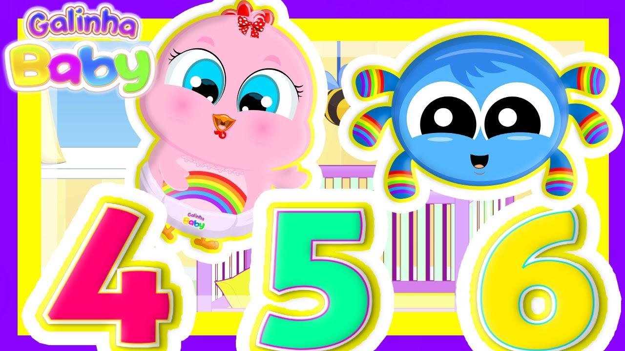 Dona Aranha com Rap dos Números +10 Minutos de Clipes Oficiais - Música Infantil - Galinha Baby