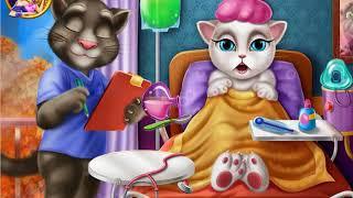Кошка Анжела болеет гриппом