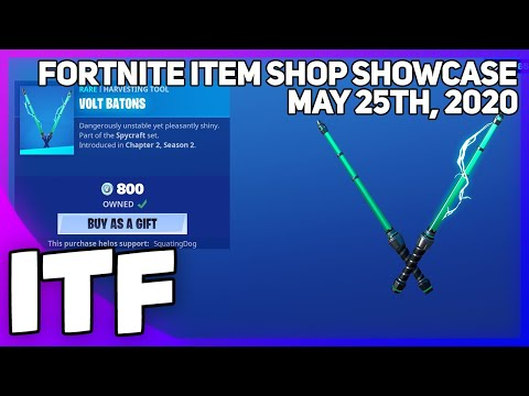 Fortnite Item Shop *NEW* VOLT BATONS PICKAXE! [May 25th, 2020] (Fortnite Battle Royale)