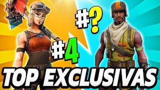 TOP 10 THE MOST EXCLUSIVE AND RARE SKINS OF FORTNITE THAT ALMOST NO ONE HAS 😱