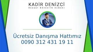 Türkiye'den yurt dışı borçlanması ile emeklilik sosyal güvenlik uzmanı Kadir Denizci açıklıyor
