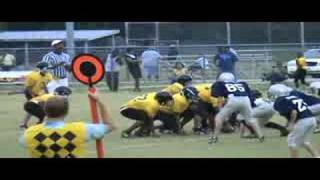 Ryan Scoggins (#25) Causes a Fumble