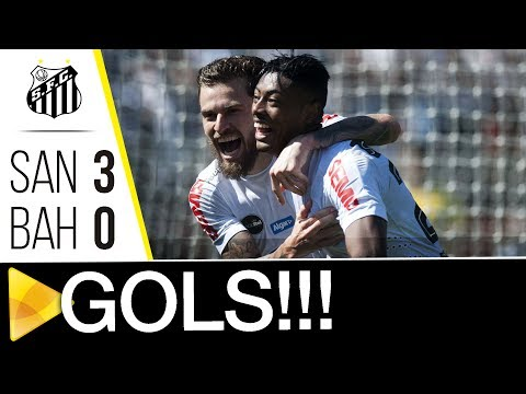 Santos 3 x 0 Bahia | GOLS | Brasileirão (24/07/17)