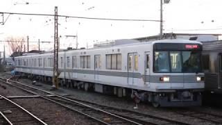 長野電鉄3000系(元 東京メトロ03系 03-104F)須坂駅構内試運転