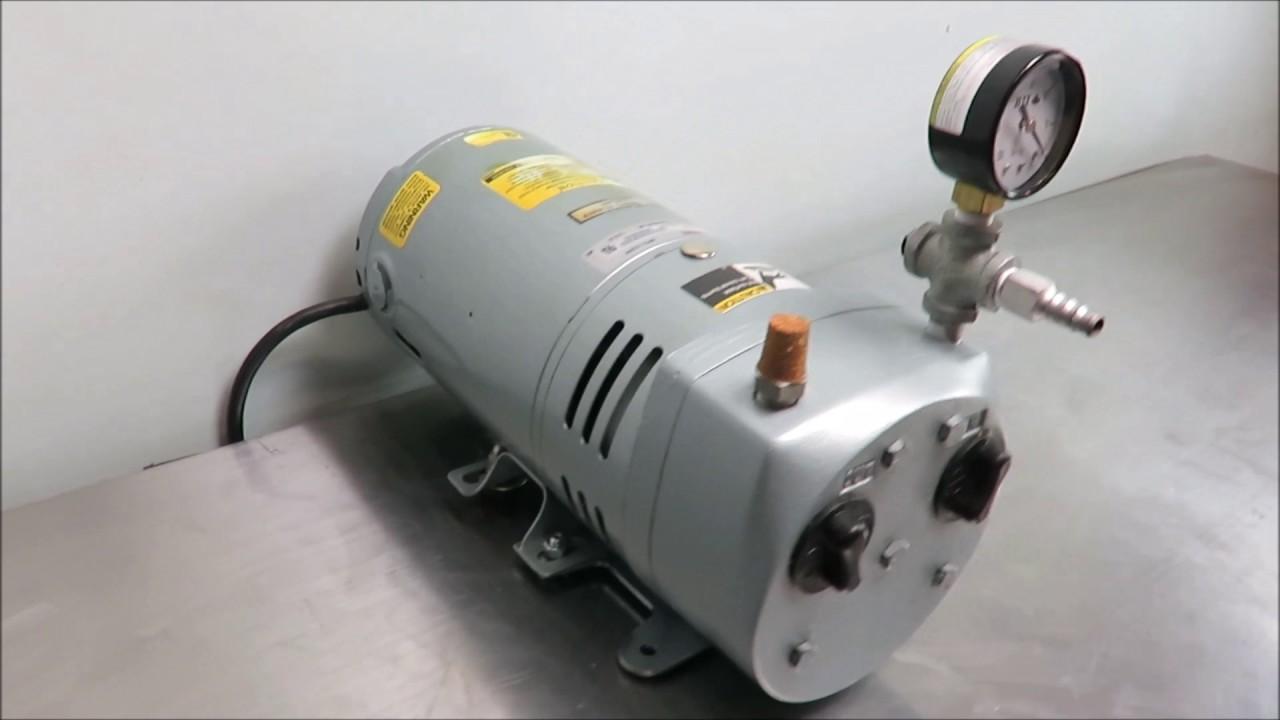 gast rotary vane vacuum pump [ 1280 x 720 Pixel ]