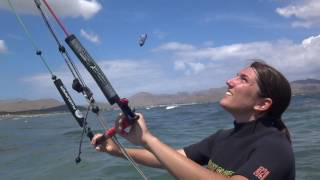 Ines kitesurfing lessons in Mallorca in July edmkpollensa com kite school Portblue Club