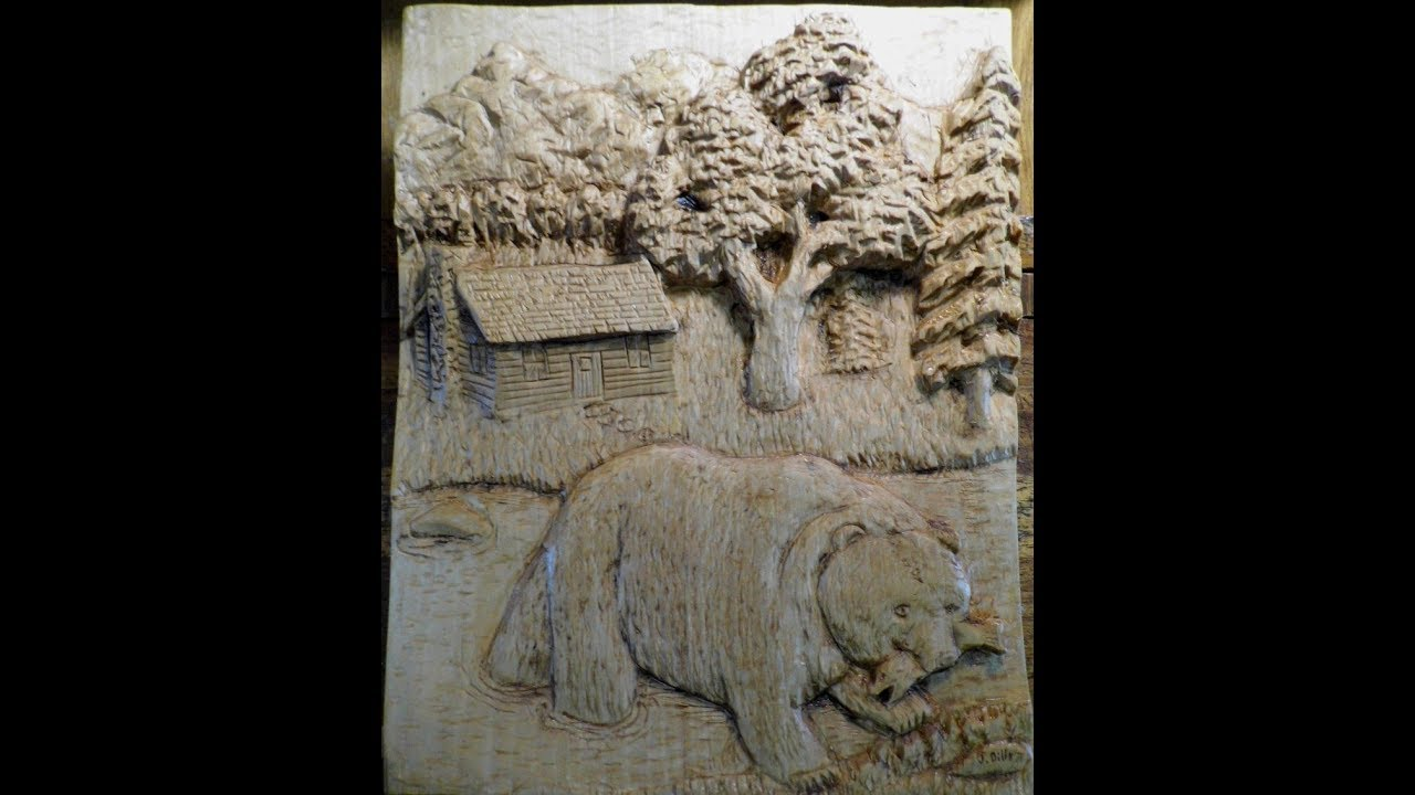 Relief carved bear youtube