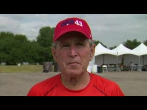 George W. Bush previews hurricane benefit concert
