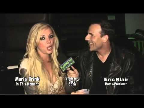 In This Moment's Maria Brink talks to Eric Blair @ The Dime Bash 2010