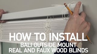 How to Install Bali® Real Wood and Faux Wood Blinds - Outside Mount Mp3