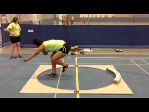 Shot Put Glide Technique - Tierra Wilson Glenbard South High School 4/23/13