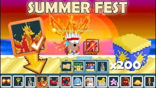 NEW PHOENIX SCARF + NEPTUNE'S TRIDENT | 200 SUMMER SURPRISE!! OMG!! | GrowTopia