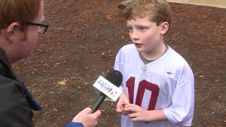 """10-year-old """"sports analyst"""" breaks down the Crimson Tide's championship performance"""