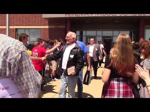 Veterans Visit Heineman Middle School and Receive Hero's Sendoff