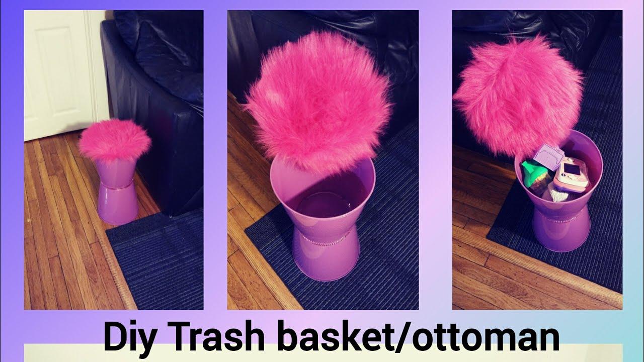 Diy Dollar Tree Trash Cans Ottoman Toy Storage Ottoman