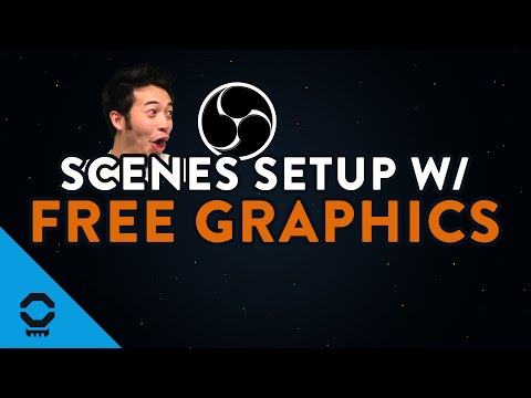 Scenes in OBS Studio (Free Graphics Included) | Tutorial 8/13