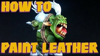 tutorial how to paint leather straps