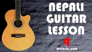 Guitar Tutorial - Lesson 4 - Chords (Nepali)
