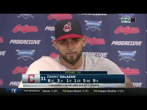 What happened when Indians starter Danny Salazar got mad?