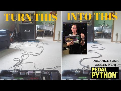 Organize Your Pedalboard Cables  - Pedal Python - For Guitarist