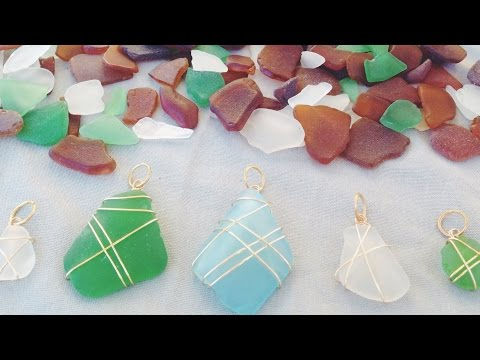 DIY Seaglass Necklaces