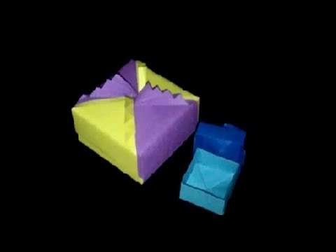 origami schatulle faltanleitung papierschachtel hd youtube. Black Bedroom Furniture Sets. Home Design Ideas