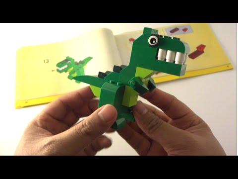 Step-by-step: How to build a Lego Dinosaur - Lego Classic 10693 ...
