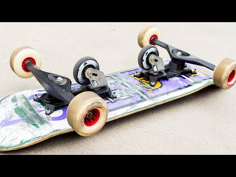FREE BOARD TRUCKS VS REGULAR SKATEBOARD!?