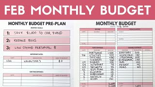 February Monthly Budget Setup & Preplan   Variable Income Budget Planning