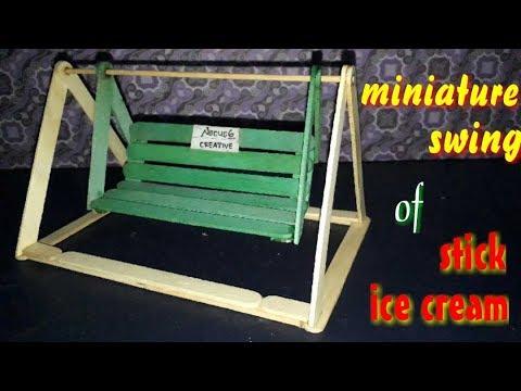 Ide Kreatif Cara Membuat Ayunan Dari Stik Es Krim